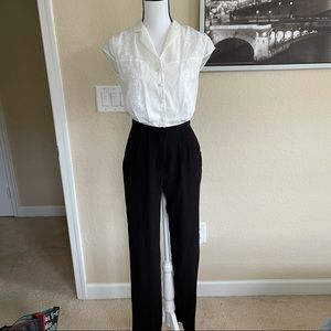 Greylin black and white jumpsuit size extra small